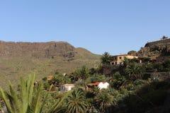 Den härliga sikten av Masca, dalen av piratkopierar, Tenerife, Spanien Royaltyfria Foton