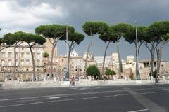 Den härliga sikten av Roman Empire fördärvar, Rome Arkivfoto