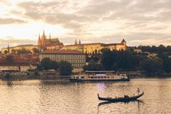 Den härliga sikten i Praha Royaltyfria Bilder