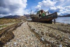 Den härliga sikten på Corpach nära Fort William i Skotska högländerna av Skottland fotografering för bildbyråer