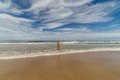 Den härliga stranden av Punta del Este, Uruguay royaltyfria bilder
