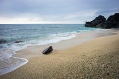 Den härliga stranden i Nha Trang, Vietnam Royaltyfria Bilder