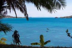 Den härliga stranden i nyfiket är Madagascar Arkivfoto