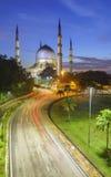 Den härliga Sultan Salahuddin Abdul Aziz Shah moskén (också kno Royaltyfria Foton