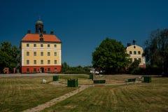 Den härliga svenska slotten av Angso Royaltyfri Foto