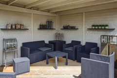 Den härliga trädgårds- idén i modell arbeta i trädgården Appeltern, Nederland Royaltyfri Foto
