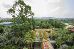 Den härliga tropiska trädgården Royaltyfri Fotografi