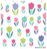 Den härliga tulpan blommar sömlös bakgrund Arkivbild