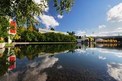 Den härliga universitetsområdet på Portland Fotografering för Bildbyråer