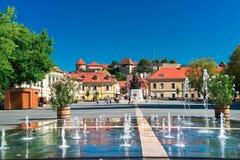 Den härliga vinregionen av Eger i Ungern Royaltyfria Bilder