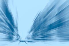 Den hög hastigheten utför signal för blått för affärsflyttningrörelse arkivbilder