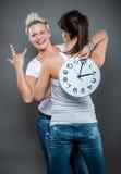 den höga klockan 3d framför upplösningstid Royaltyfri Fotografi