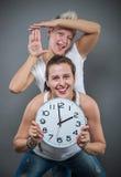 den höga klockan 3d framför upplösningstid Royaltyfri Bild