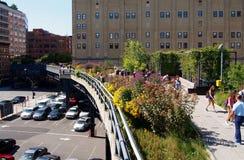 Den höga linjen parkerar i New York Royaltyfri Foto