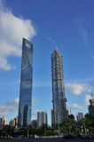 Den högsta byggnaden i Shanghai arkivfoton