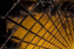 Den h?rliga closeupen texturerar abstrakta tegelplattor och svart gul f?r f?rgexponeringsglasmodell f?r v?gg bakgrund f?r guld oc royaltyfria bilder