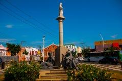 Den h?rliga monumentet i parkerar _ Salvador h?rligt dimensionellt diagram illustration s?dra tre f?r 3d Amerika mycket royaltyfri bild
