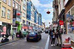 Den Haag, die Niederlande - 8. Mai 2015: Leutebesuch China-Stadt in Den Haag Stockfoto