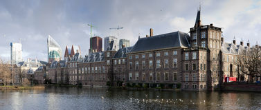 Den Haag. Dutch Parliament. Panoramic composition Royalty Free Stock Images