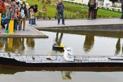 DEN HAAG, NEDERLAND - APRIL 7: Bezoekende toerist Royalty-vrije Stock Afbeeldingen