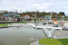 DEN HAAG, NEDERLAND - APRIL 7: Bezoekende toerist Royalty-vrije Stock Foto
