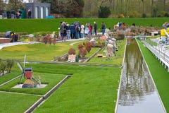DEN HAAG, NEDERLAND - APRIL 7: Bezoekende toerist Stock Afbeeldingen