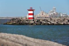 Den Haag niederländische Seeleuchtturmfront stockbilder