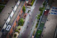 Den Haag, NL in der Neigungschiebeminiatur lizenzfreies stockfoto