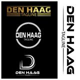 Den Haag typography set, flat designs. EPS file available. see more images related stock illustration