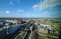 Den haag. View of den haag train station and part of the city Stock Photos