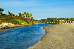 Den Hadera floden parkerar Arkivfoton