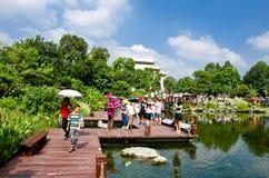 Den HaiZhu våtmarken parkerar i Guangzhou Arkivbilder