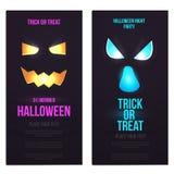 Den Hallowen lägenheten planlade vertikala baner 2 royaltyfri illustrationer