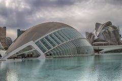 Den halvklotformig och Palau de les Konst reinaen Royaltyfria Foton
