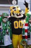 Den Hamilton Tiger-Cats Sports maskot Arkivbilder