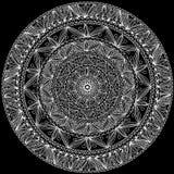 Den Hand-made dekorativa rounden snör åt Royaltyfri Illustrationer