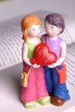 den handgjorda dockan älskar jag dig Fotografering för Bildbyråer