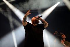 Den handlingBronson rapparen utför i konsert på det Primavera ljudet 2016 Arkivfoto