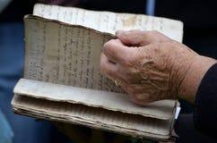 Den handskrivna boken av minnen Royaltyfria Foton