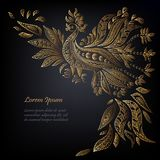Den handskrivna moderna märka Hello fjädrar på träefterföljd texturerad bakgrund Royaltyfria Bilder
