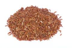 Den har en mild nötliknande anstrykning, är mer seg och mer näringsrik än vita ris Arkivbild