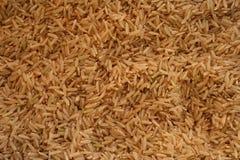 Den har en mild nötliknande anstrykning, är mer seg och mer näringsrik än vita ris royaltyfri fotografi