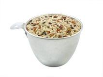 Den har en mild nötliknande anstrykning, är mer seg och mer näringsrik än vita ris arkivbilder