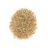 Den har en mild nötliknande anstrykning, är mer seg och mer näringsrik än vita ris Arkivfoto