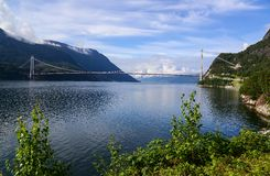 Den Hardanger bron Royaltyfria Foton