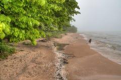 Den Harrington stranden är en delstatspark i Wisconsin på Lake Michigan n royaltyfri foto