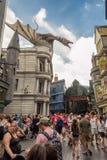 Den Harry Potter ritten på universella studior Florida Royaltyfria Bilder