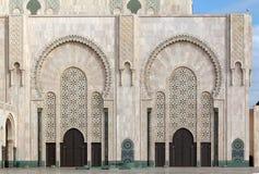 Den Hassan II moskén Arkivbilder
