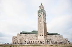 Den Hassan II moskén, ett islamiskt arkitektoniskt mästerverk arkivbild