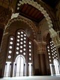 Den Hassan II moskén - härliga arkitektur- och dekordetaljer royaltyfria foton